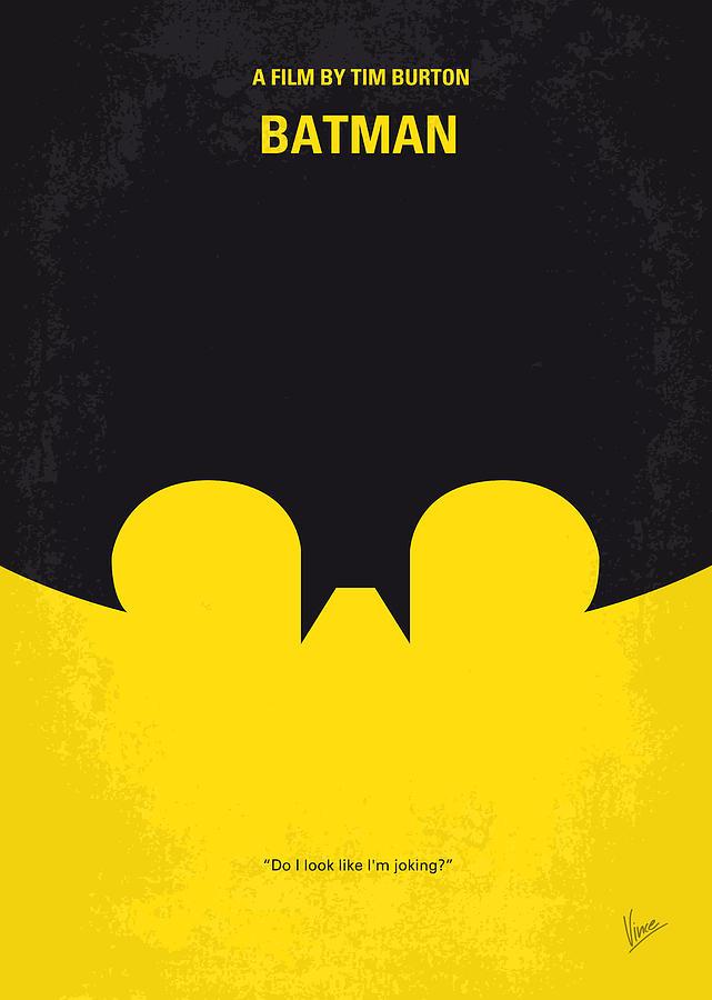 No008 My Batman Minimal Movie Poster Digital Art