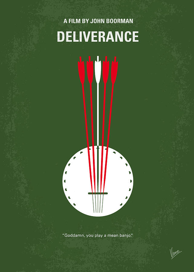 Deliverance Digital Art - No020 My Deliverance Minimal Movie Poster by Chungkong Art