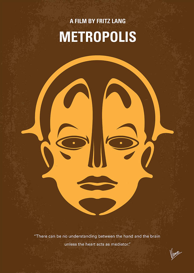Metropolis Digital Art - No052 My Metropolis Minimal Movie Poster by Chungkong Art