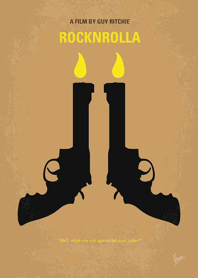 No071 My Rocknrolla Minimal Movie Poster Digital Art