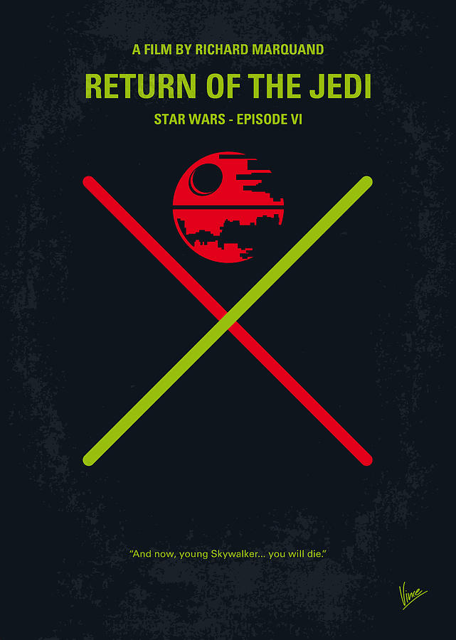 Star Digital Art - No156 My Star Wars Episode Vi Return Of The Jedi Minimal Movie Poster by Chungkong Art