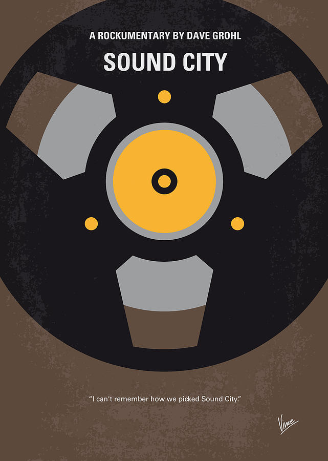 no181 my sound city minimal movie poster digital art by
