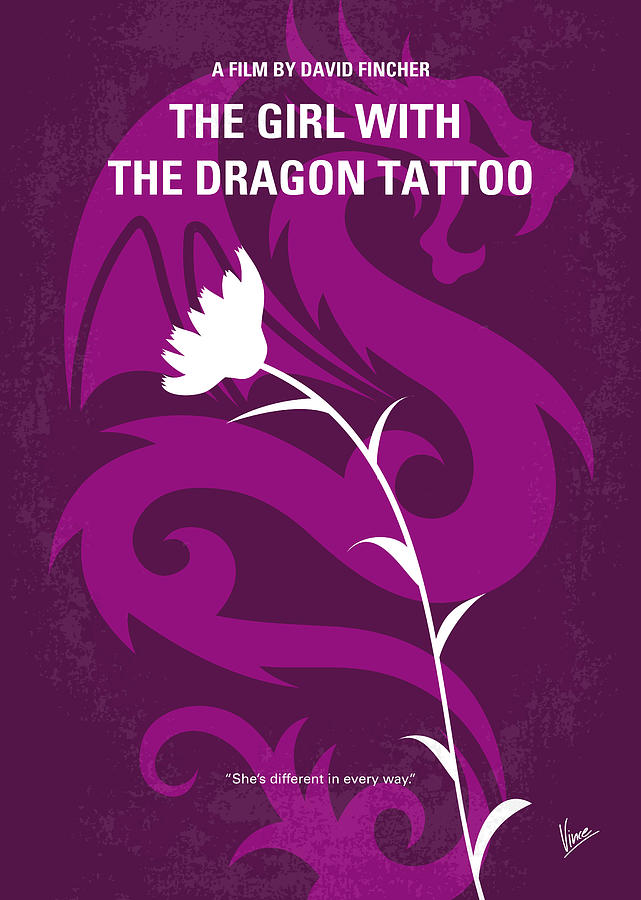 ... The Girl With The Dragon Tattoo Minimal Movie Poster by Chungkong Art The Girl With The Dragon Tattoo Poster