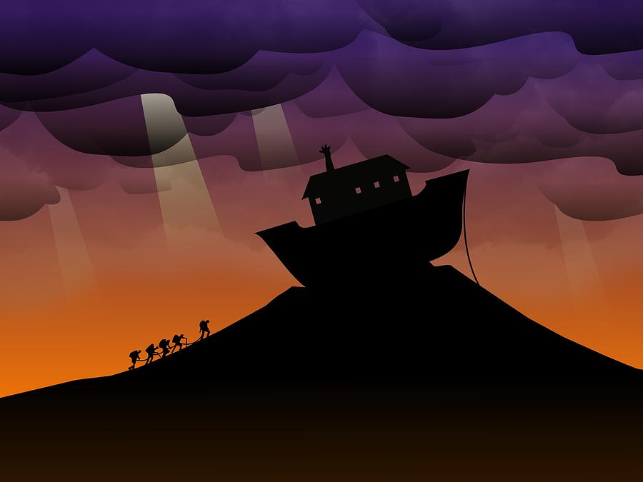 Noah Digital Art - Noahs Ark Discovery by Nestor PS