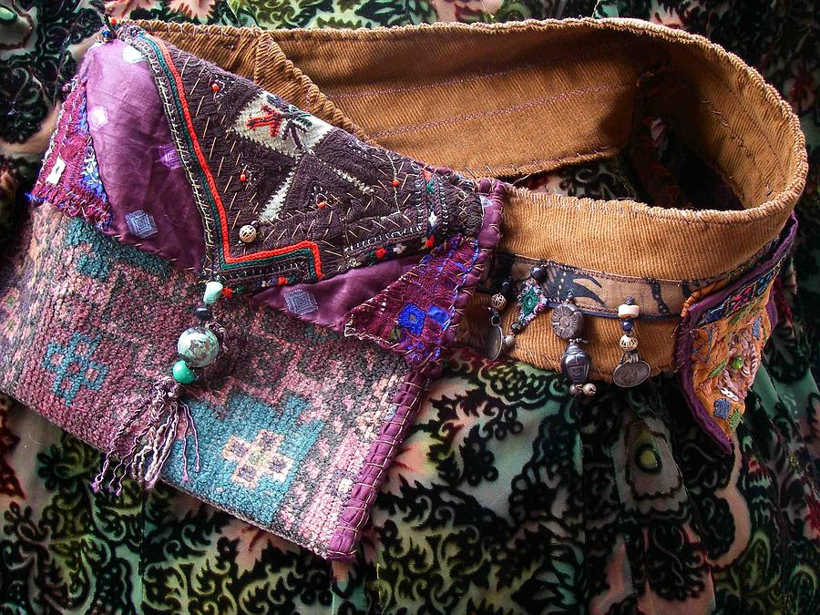 Carpetbag Tapestry - Textile - Nomadic Pouch-belt  Custom Orders Only by Krisha Fairchild