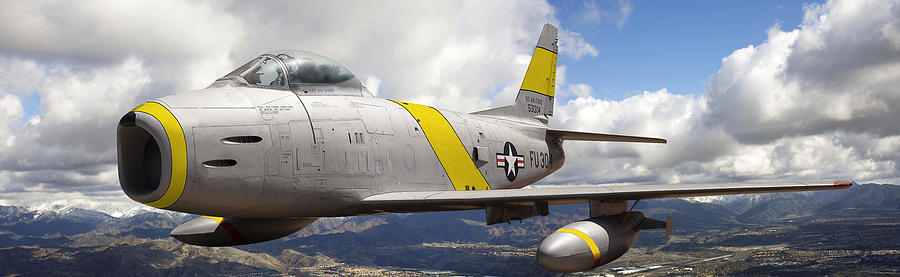 F-86 Sabre Photograph - North American F-86 Sabre by Larry McManus