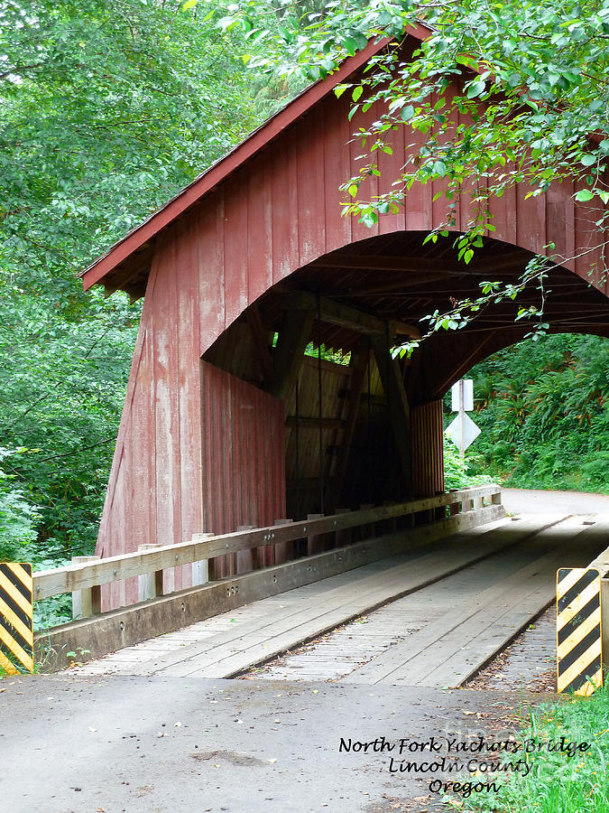 North Fork Yachats Bridge 1 Photograph - North Fork Yachats Bridge 2 by Methune Hively