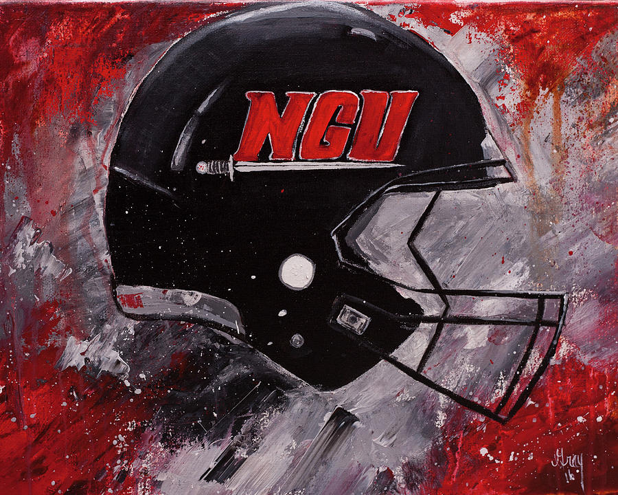 Football Helmet Painting : North greenville university football helmet wall art