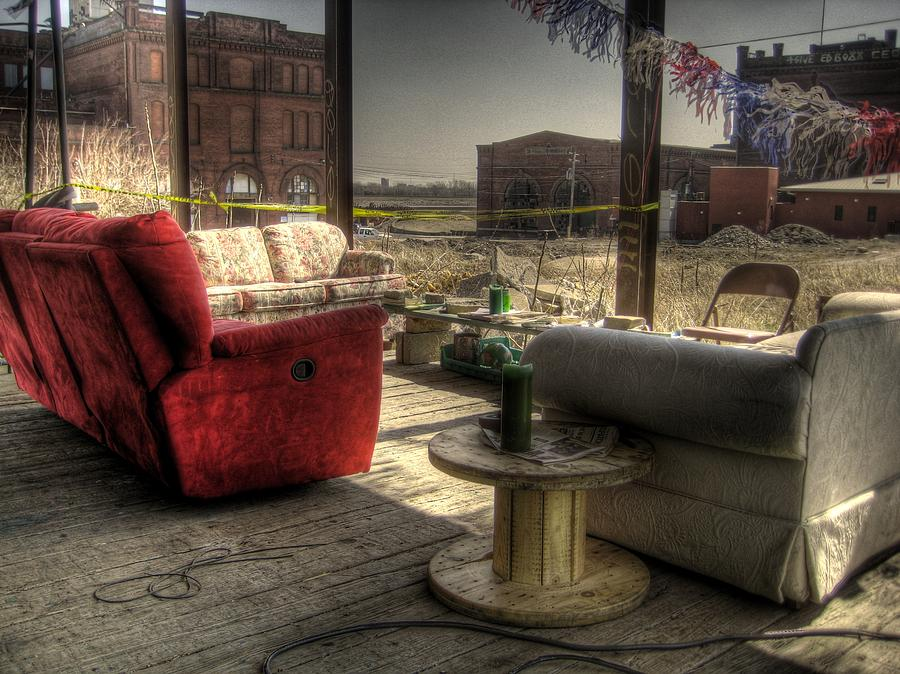 Hdr Photograph - North St. Louis Porch by Jane Linders