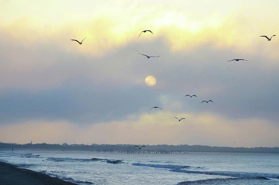 Sunrise Photograph - North Wildwood Beach by Bill Cannon