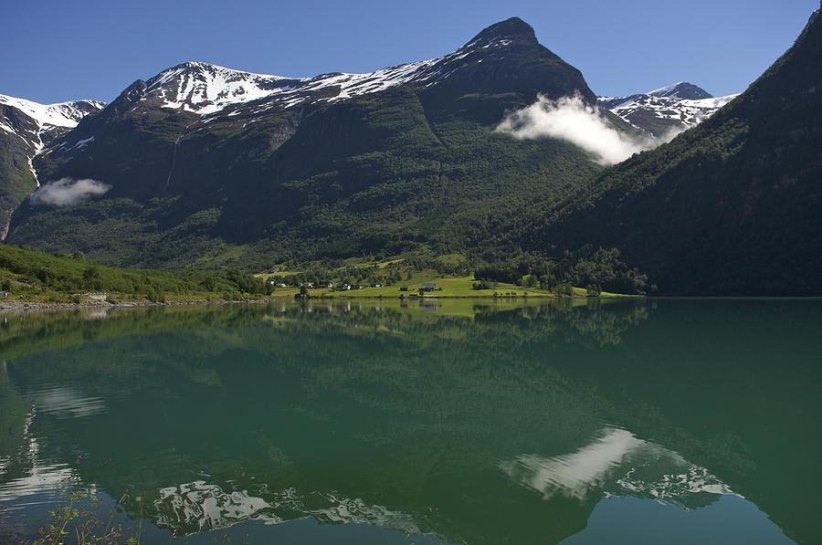 Norway, Briksdal Glacier At Jostedal Photograph