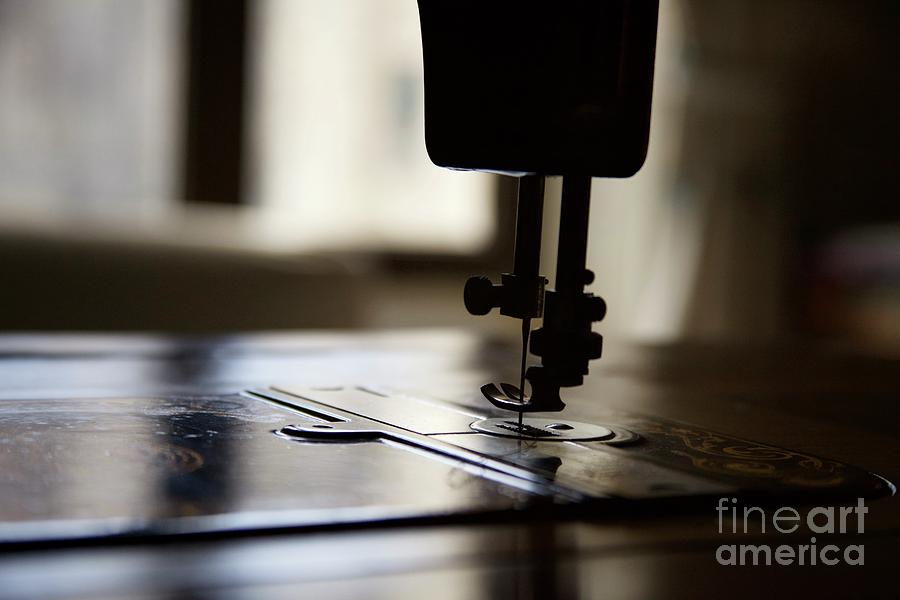 Nostalgia ..sewing Machine Silhouette Photograph