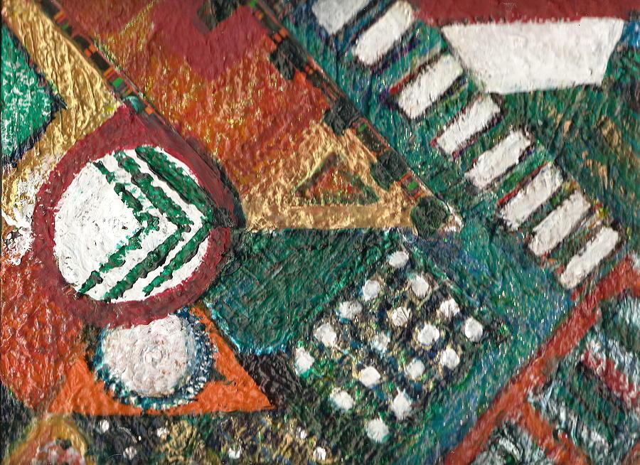 Abstract Keys Geometric Geometry Josh Mixed Media - Not Plane Geometry II by Anne-Elizabeth Whiteway