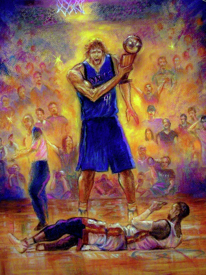 Basketball Pastel - Not This Time by Tommy  Winn