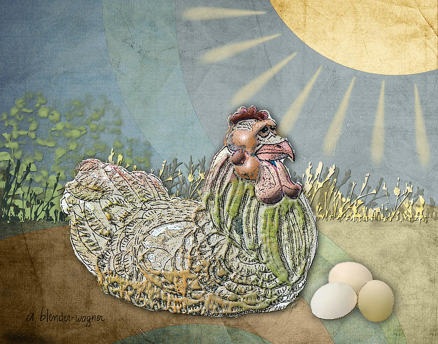Chicken Digital Art - Now What.... by Arline Wagner