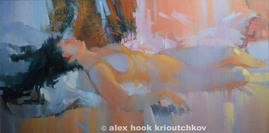 Nude Painting - Nu 28 by Alex Hook Krioutchkov
