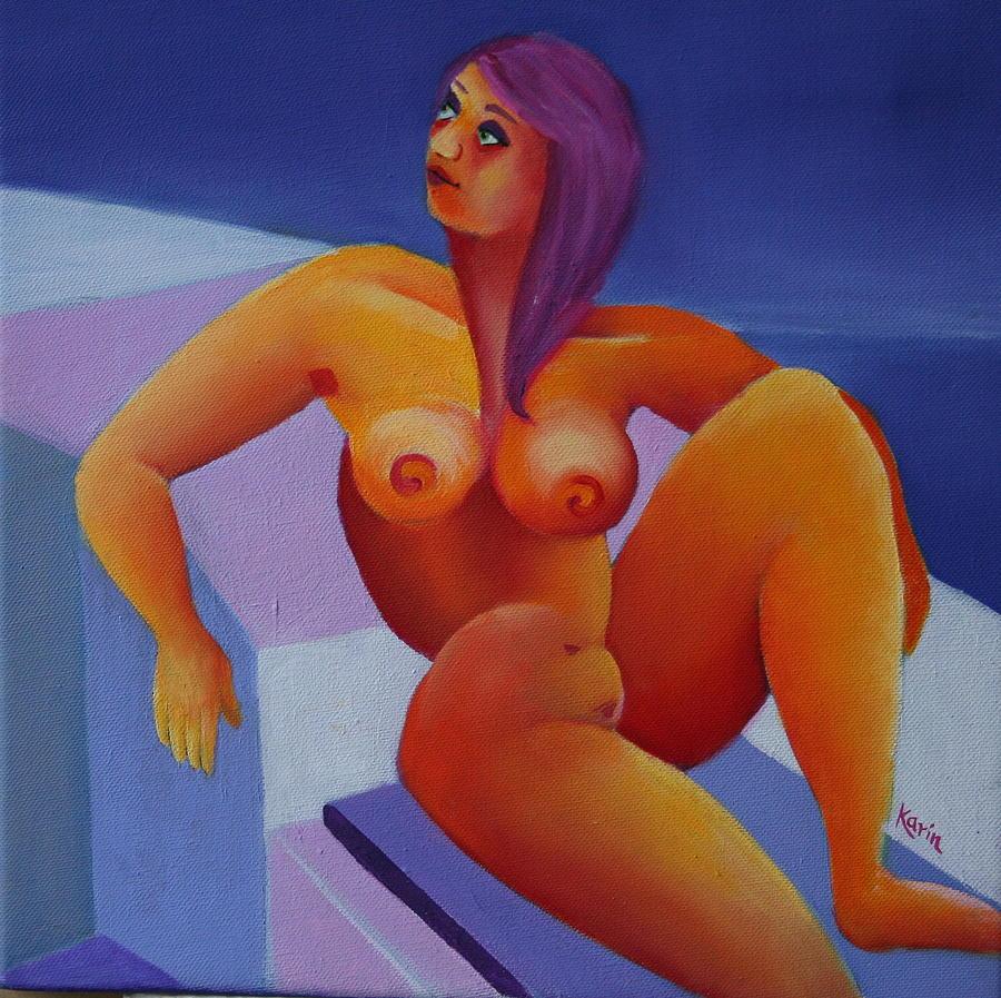 Figurative Painting - Nude 5 by Karin Eisermann