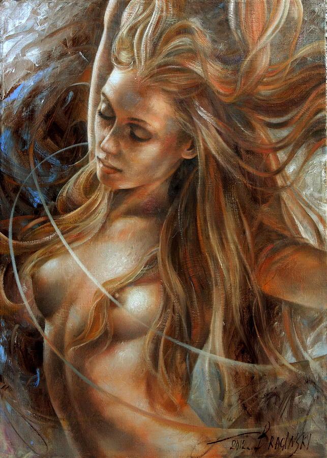 Nude Prints Painting - Nude Dinamik2 by Arthur Braginsky