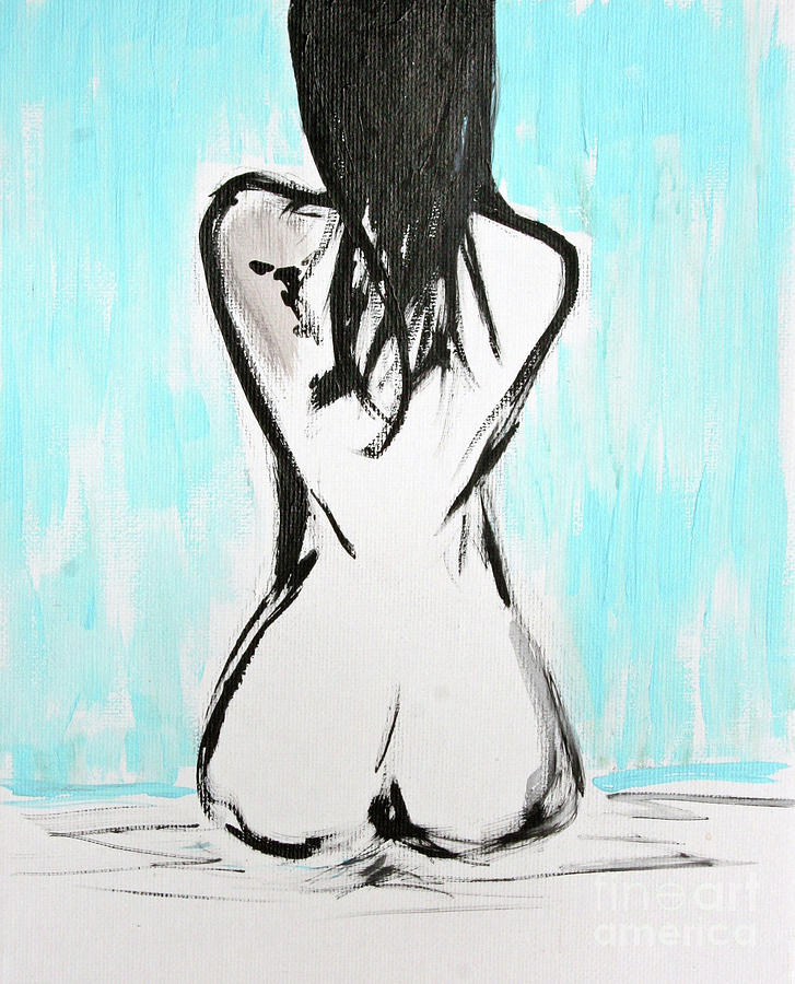 Paintings Painting - Nude Female by Julie Lueders