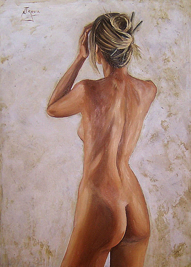 Nude Painting - Nude by Natalia Tejera