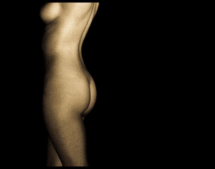 Person Photograph - Nude On Black by Bob Orsillo
