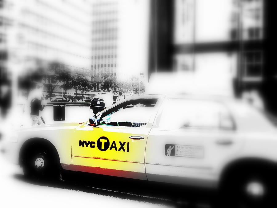 America Photograph - Nyc Cab by Funkpix Photo Hunter