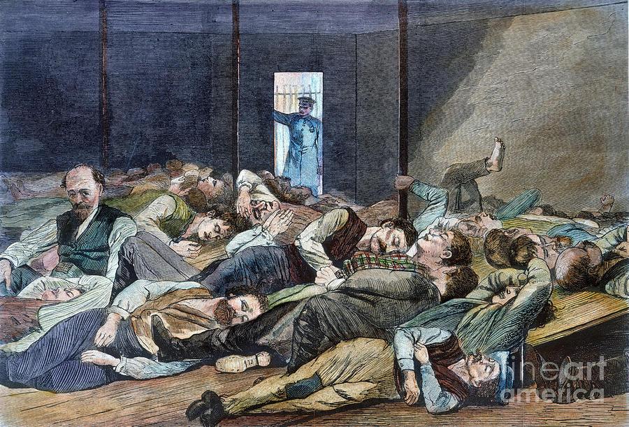 Nyc: Homeless, 1874 Photograph