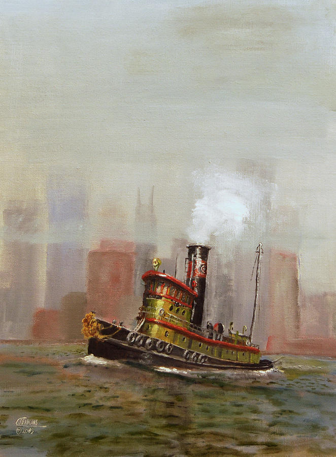 Tug Painting - Nyc Tug by Christopher Jenkins