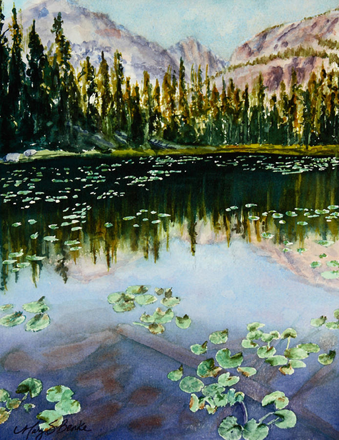 Nymph Lake Painting - Nymph Lake by Mary Benke