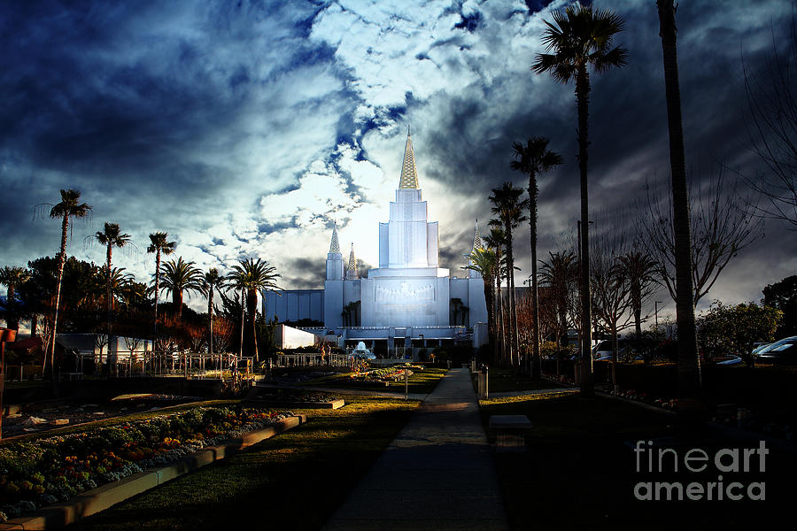 Oakland California Temple . The Church Of Jesus Christ Of Latter-day Saints Photograph