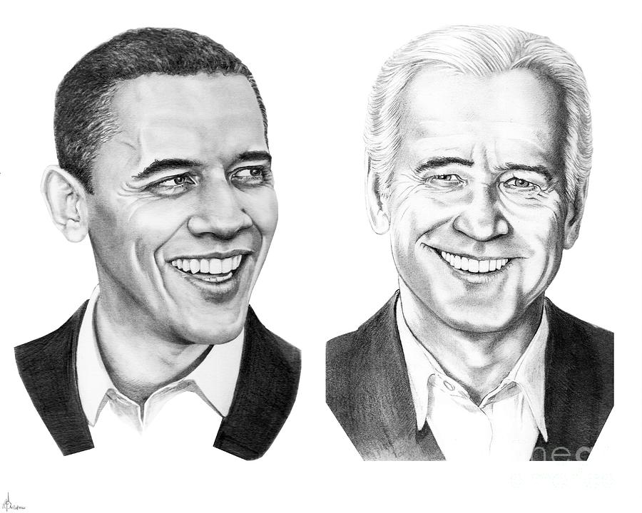 Obama Biden Drawing