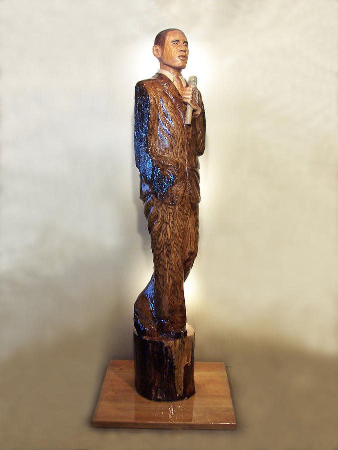 President Sculpture - Obama On The Stump by Robert Crowell
