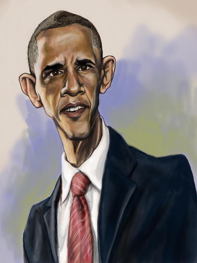Barack Obama Painting - Obama by Tyler Auman