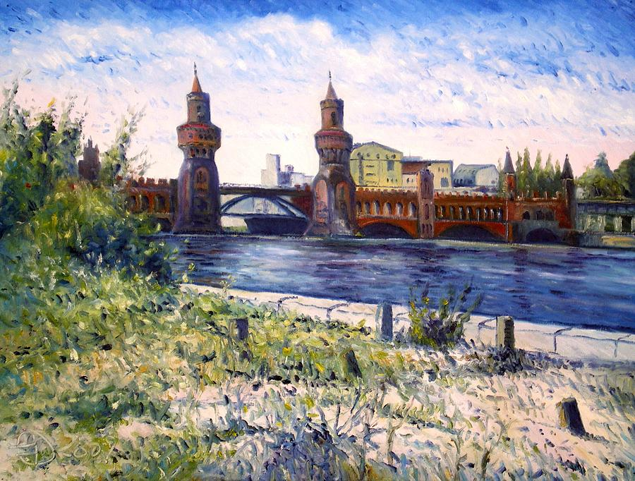 Oils On Canvas Painting - Oberbaumbrucke Berlin Germany 2009 by Enver Larney