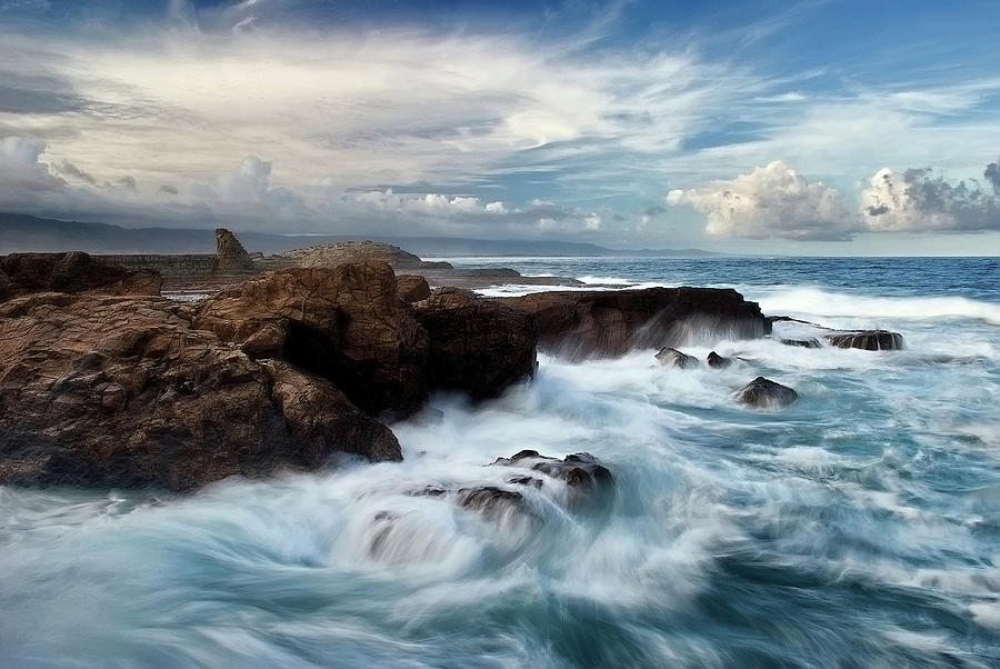 Seascape Photograph - Ocean Brushes by Kieran OConnor