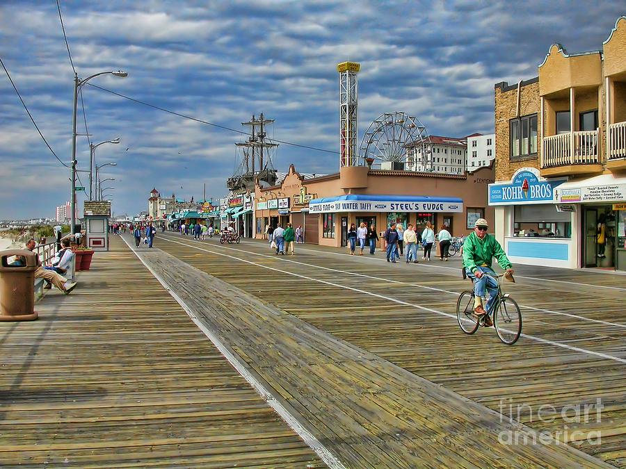 Ocean City Photograph - Ocean City Boardwalk by Edward Sobuta