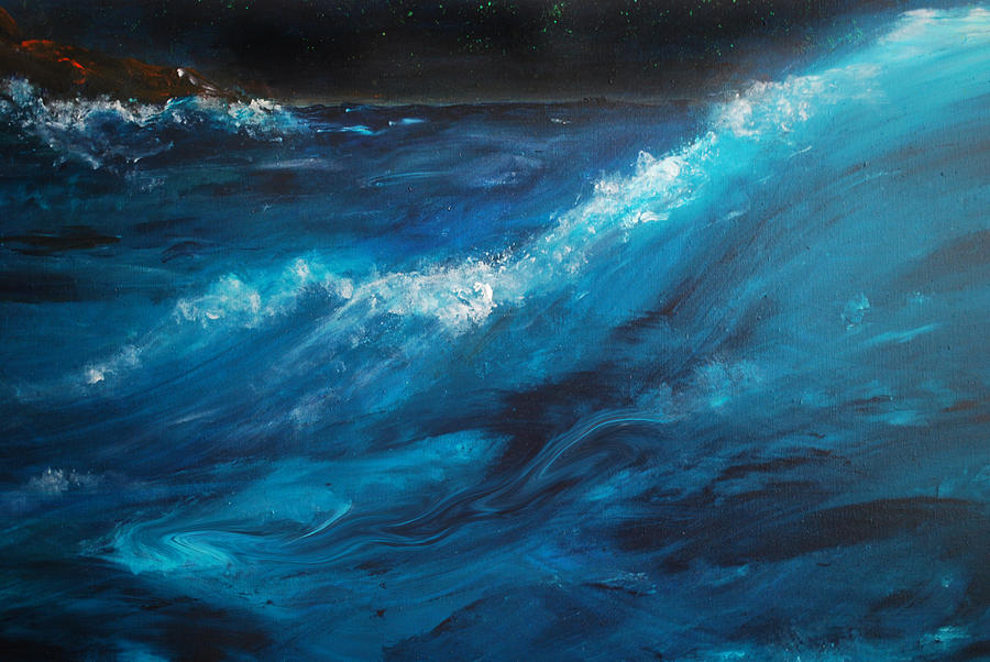 Crashing Waves Painting - Ocean II by Patricia Motley