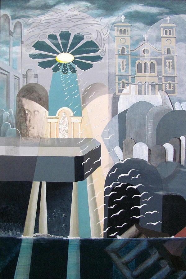 Church Painting - Ocean Ranger Disaster by Douglas Pike