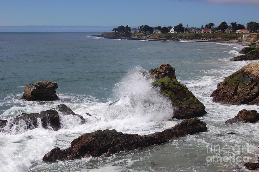 Ocean Photograph - Ocean Spray West Cliff by Garnett  Jaeger