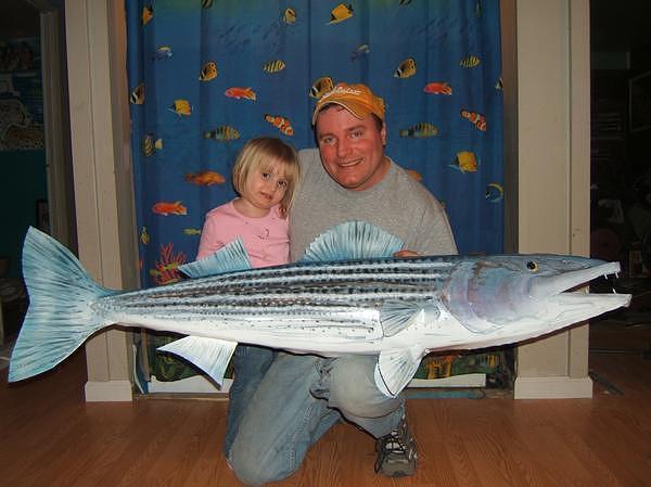 Fish Sculpture - Ocean Srtipe Bass by Todd Timler