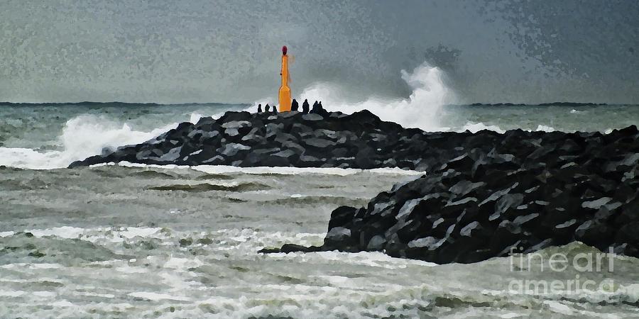 Breaking Digital Art - October At The Sea by Wedigo Ferchland