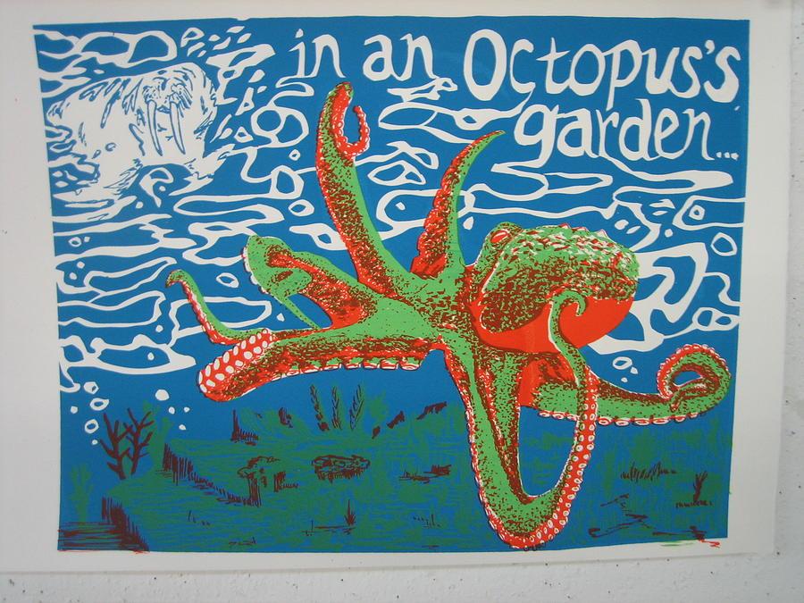 Octopus Painting - Octopuss Garden by Kayla Race