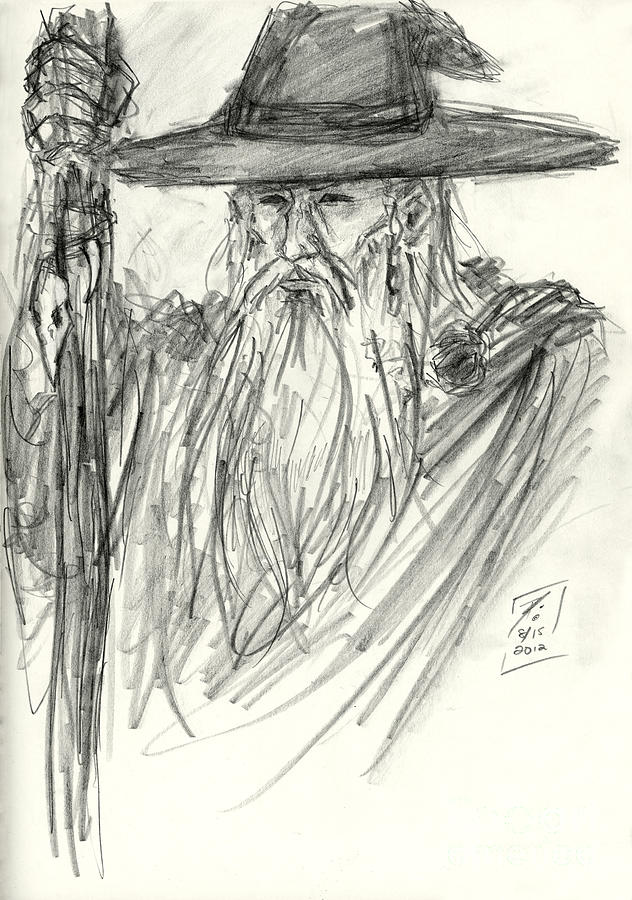Odin All Father Drawing By Brandy Woods