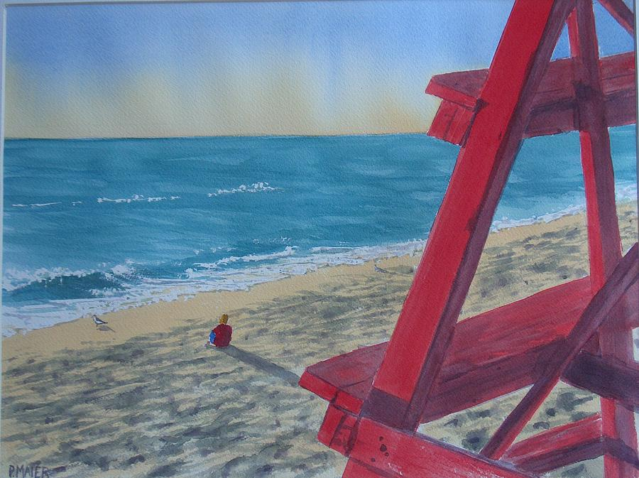 Lorida Painting - Off Guard II by Pete Maier