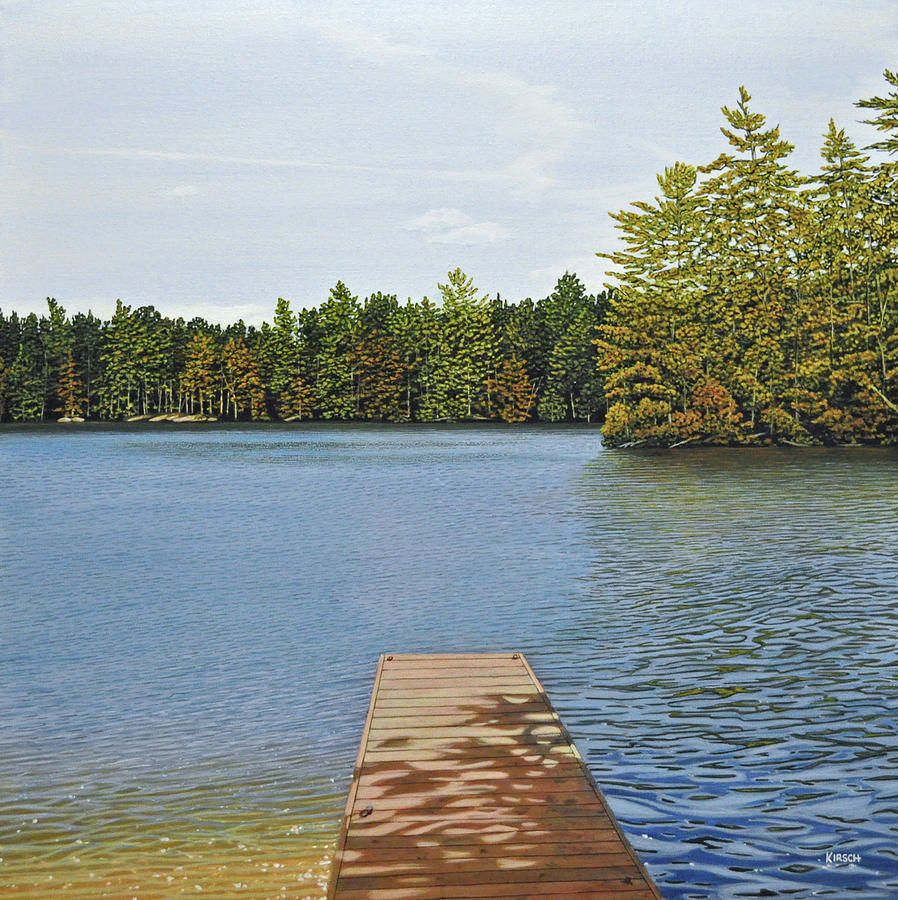 Cottage Painting - Off The Dock by Kenneth M  Kirsch