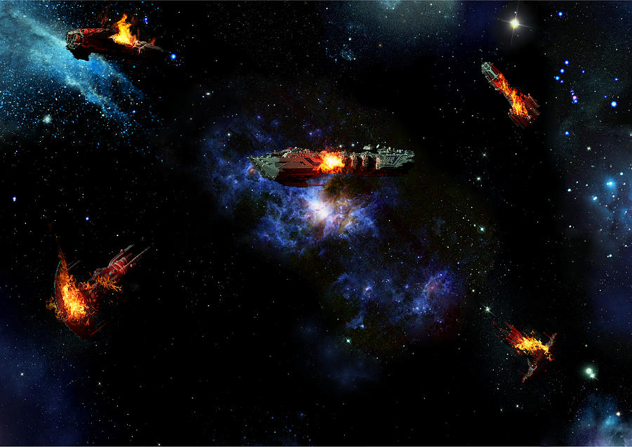 Alien Digital Art - Off The Shoulder Of Orion by Joseph Soiza