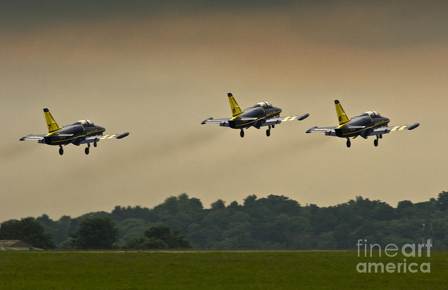 Breitling Jet Team Photograph - Off We Go by Angel  Tarantella