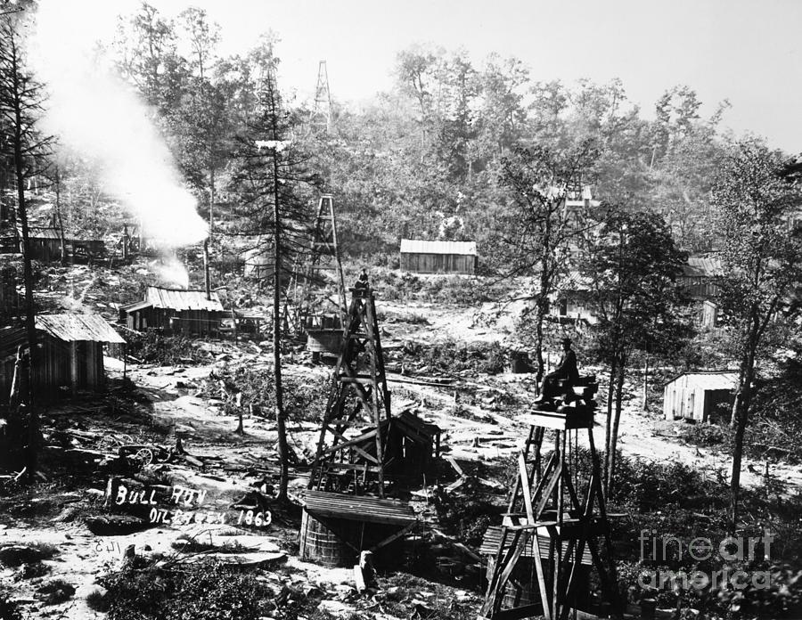 Oil: Pennsylvania, 1863 Photograph