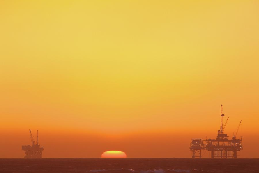 Horizontal Photograph - Oil Rig by Eric Lo