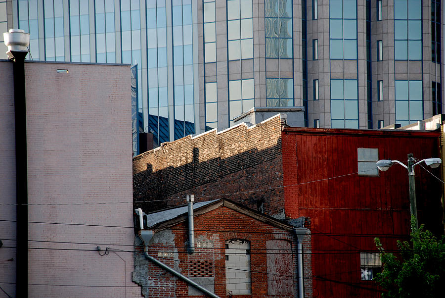 Nashville Photograph - Old And New Close Together by Susanne Van Hulst